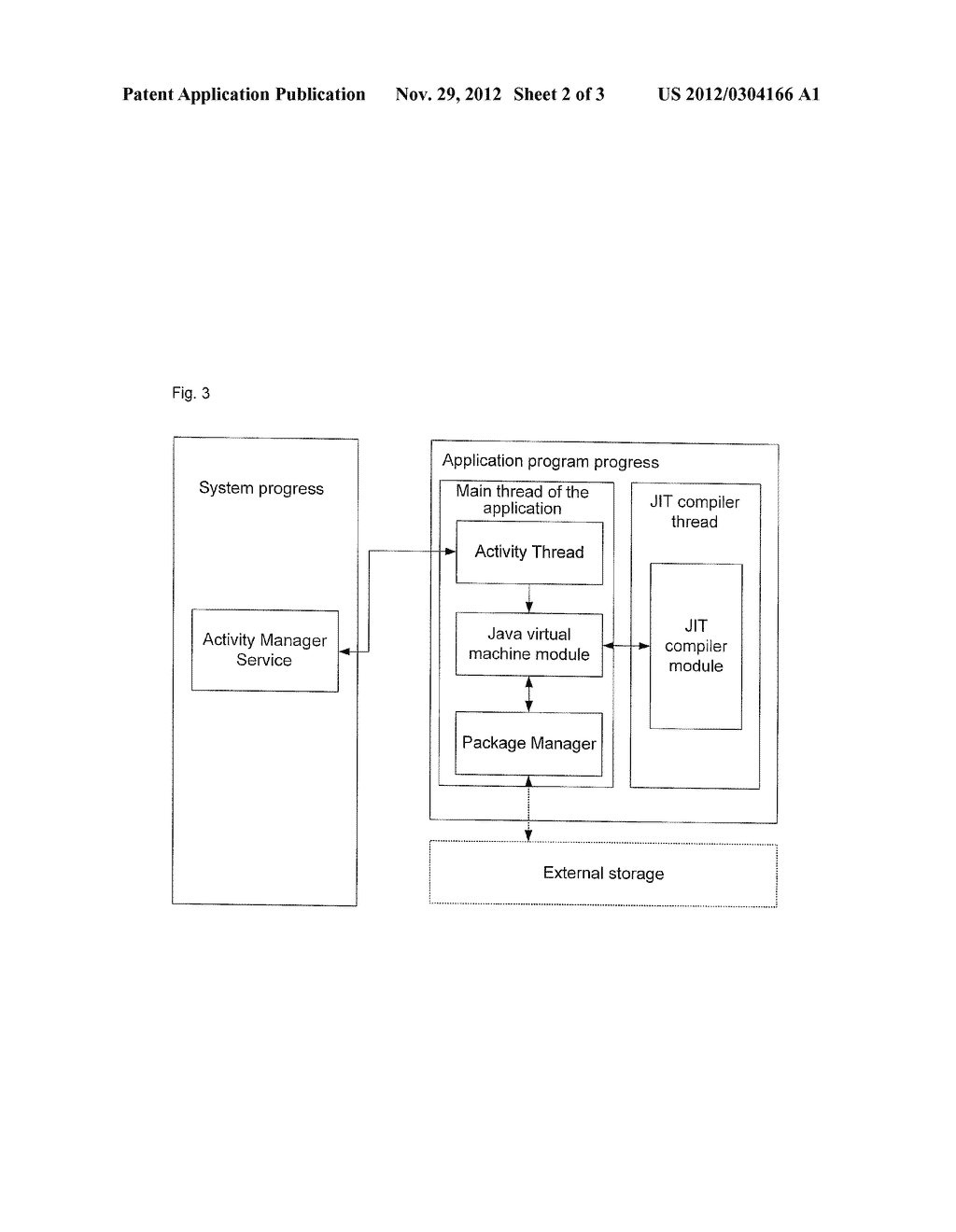 BOOTUP METHOD AND DEVICE FOR APPLICATION PROGRAM IN MOBILE EQUIPMENT - diagram, schematic, and image 03