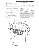 ARTICLE OF CLOTHING HAVING PERSONALIZED INDICIA AND METHOD OF PRODUCING     THE SAME diagram and image