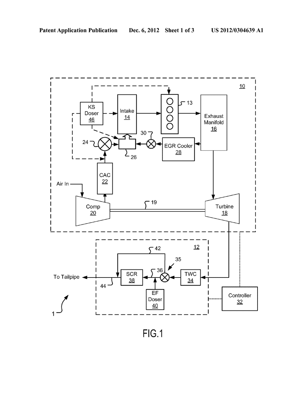 LEAN BURN ACTIVE IGNITION ENGINE WITH AFTERTREATMENT SYSTEM AND METHOD - diagram, schematic, and image 02