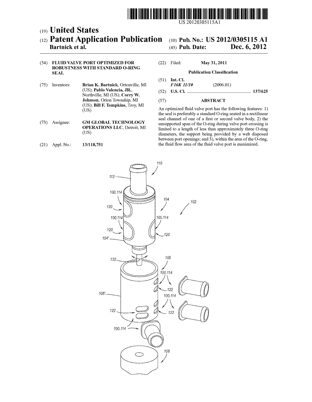 Fluid Valve Port Optimized for Robustness with Standard O-Ring Seal - diagram, schematic, and image 01