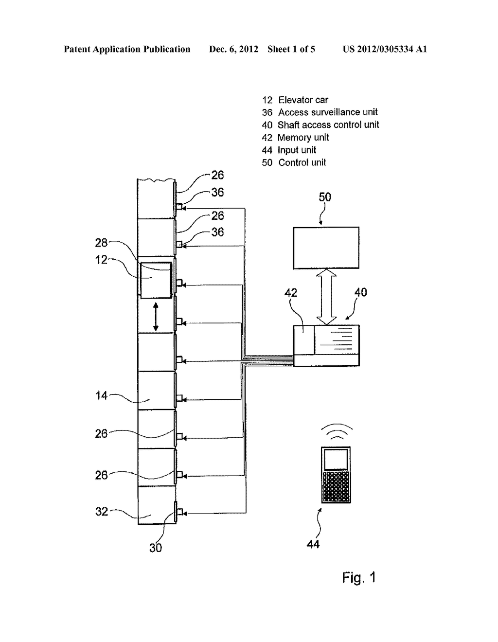 SHAFT ACCESS ENABLING DEVICE OF AN ELEVATOR SYSTEM - diagram, schematic, and image 02
