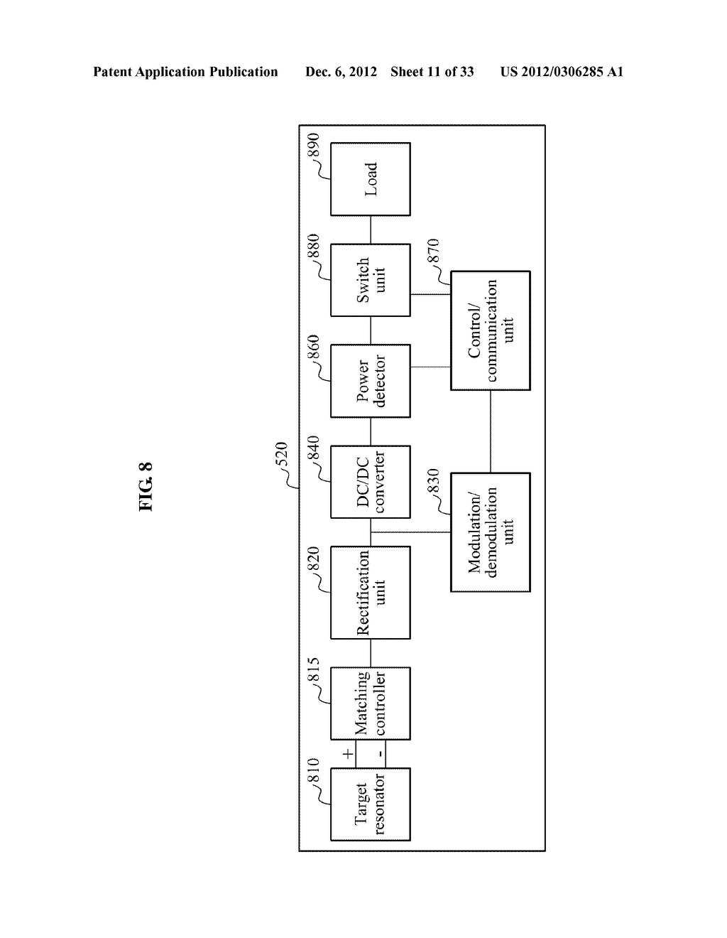 METHOD AND APPARATUS FOR DETECTING EFFICIENCY OF WIRELESS POWER     TRANSMISSION - diagram, schematic, and image 12