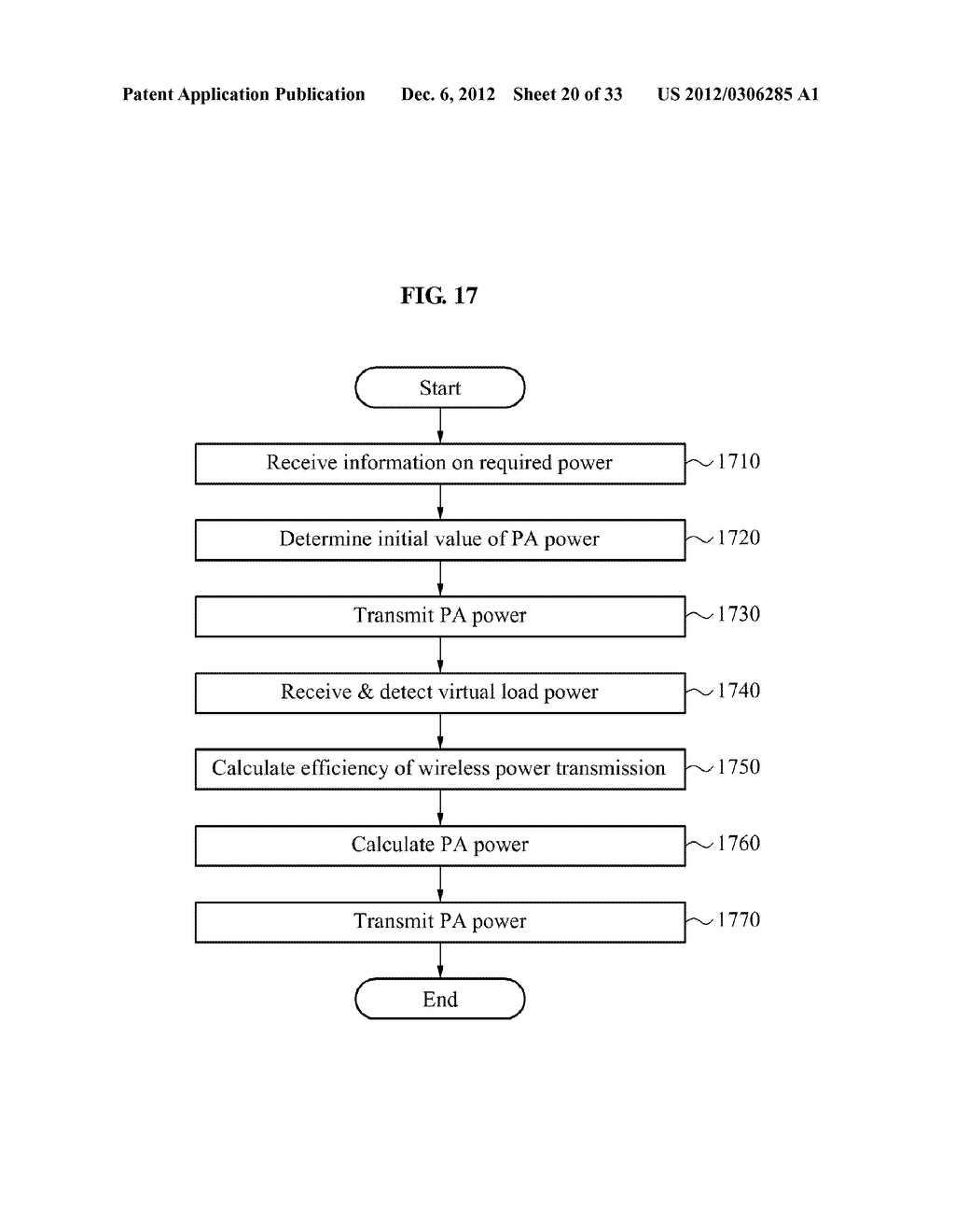 METHOD AND APPARATUS FOR DETECTING EFFICIENCY OF WIRELESS POWER     TRANSMISSION - diagram, schematic, and image 21