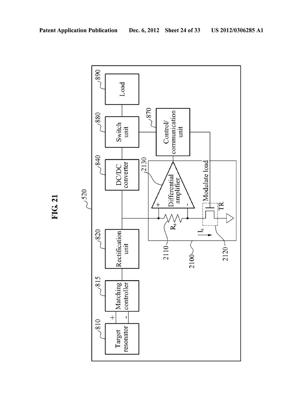 METHOD AND APPARATUS FOR DETECTING EFFICIENCY OF WIRELESS POWER     TRANSMISSION - diagram, schematic, and image 25