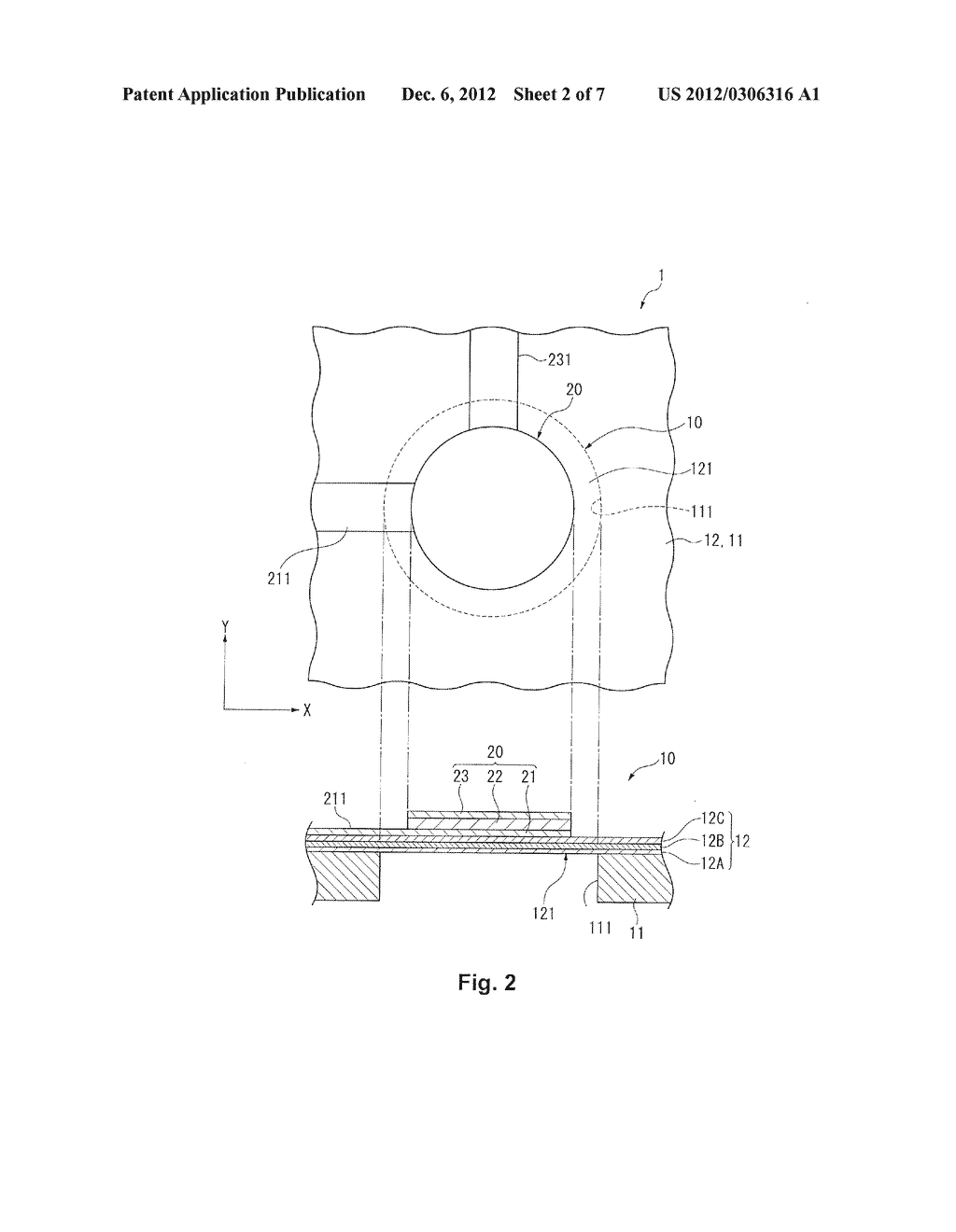 ULTRASONIC TRANSDUCER, BIOLOGICAL SENSOR, AND METHOD FOR MANUFACTURING AN     ULTRASONIC TRANSDUCER - diagram, schematic, and image 03