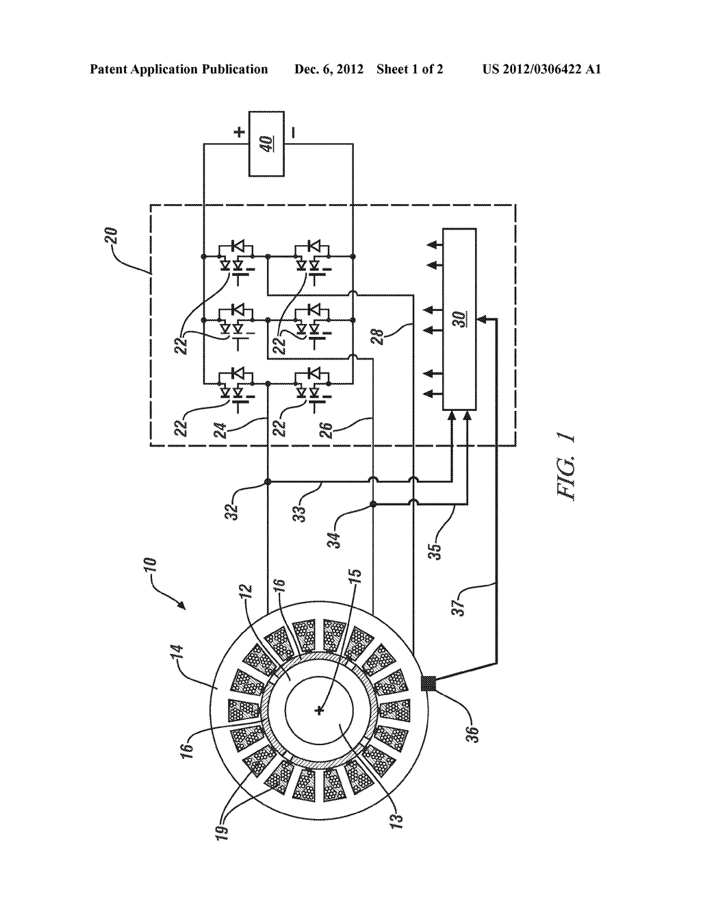METHOD AND APPARATUS FOR THERMALLY MONITORING A PERMANENT MAGNET ELECTRIC     MOTOR - diagram, schematic, and image 02