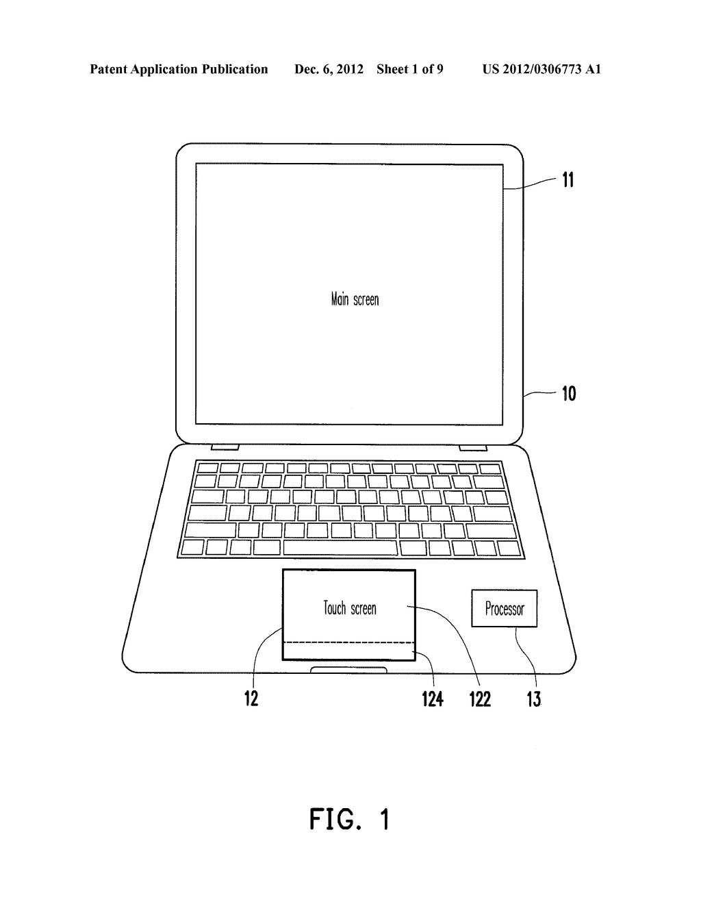 TOUCH CONTROL METHOD AND ELECTRONIC APPARATUS - diagram, schematic, and image 02
