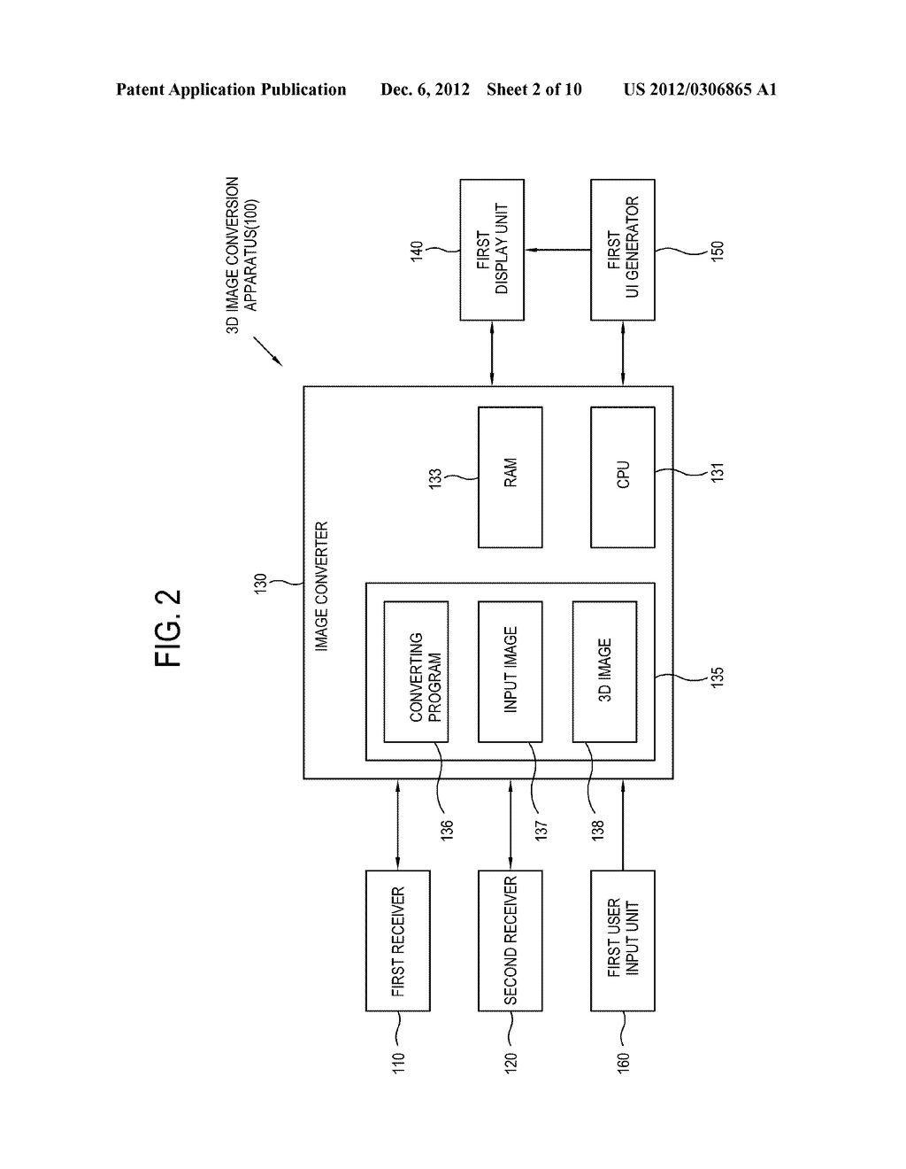 APPARATUS AND METHOD FOR 3D IMAGE CONVERSION AND A STORAGE MEDIUM THEREOF - diagram, schematic, and image 03