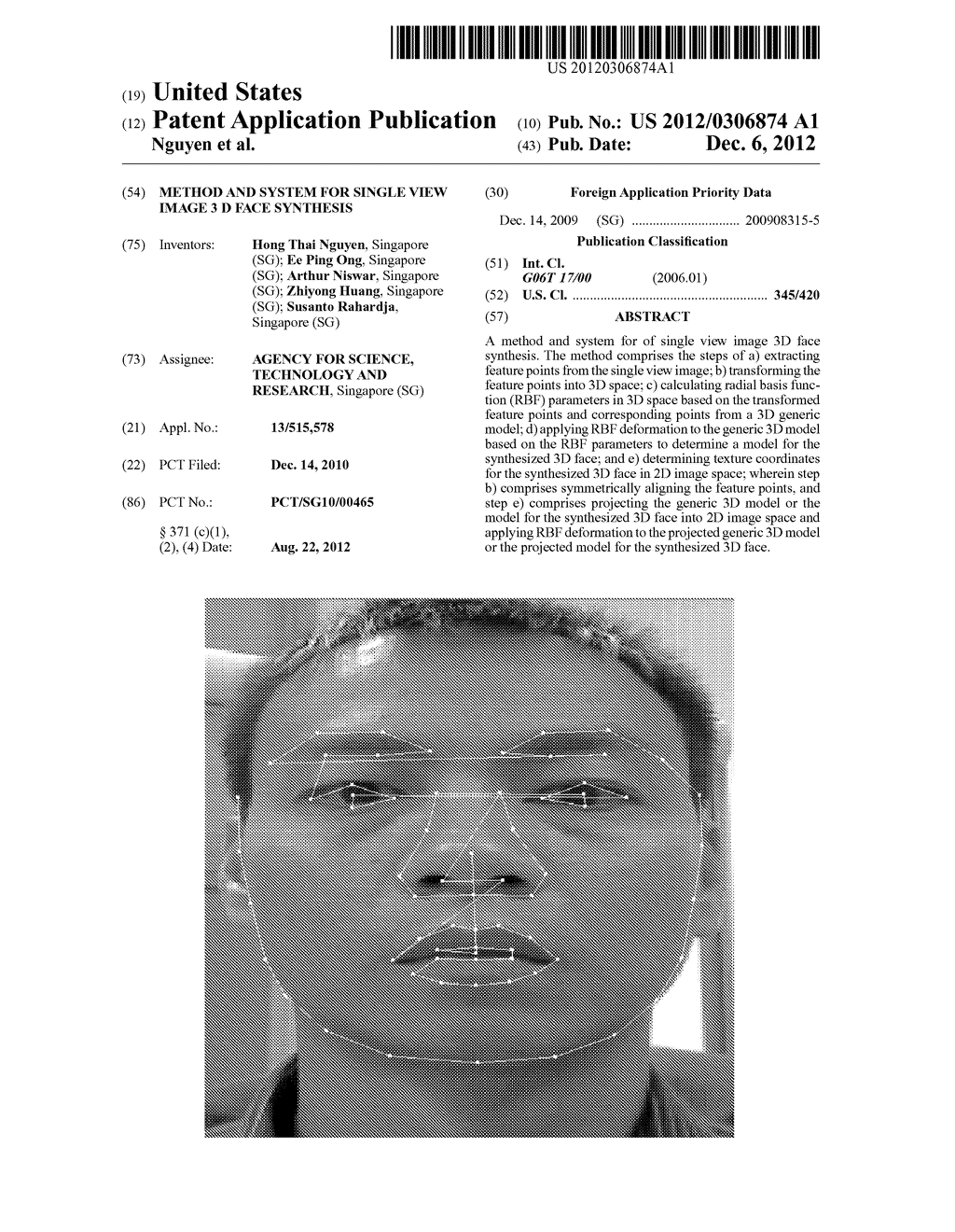 METHOD AND SYSTEM FOR SINGLE VIEW IMAGE 3 D FACE SYNTHESIS - diagram, schematic, and image 01