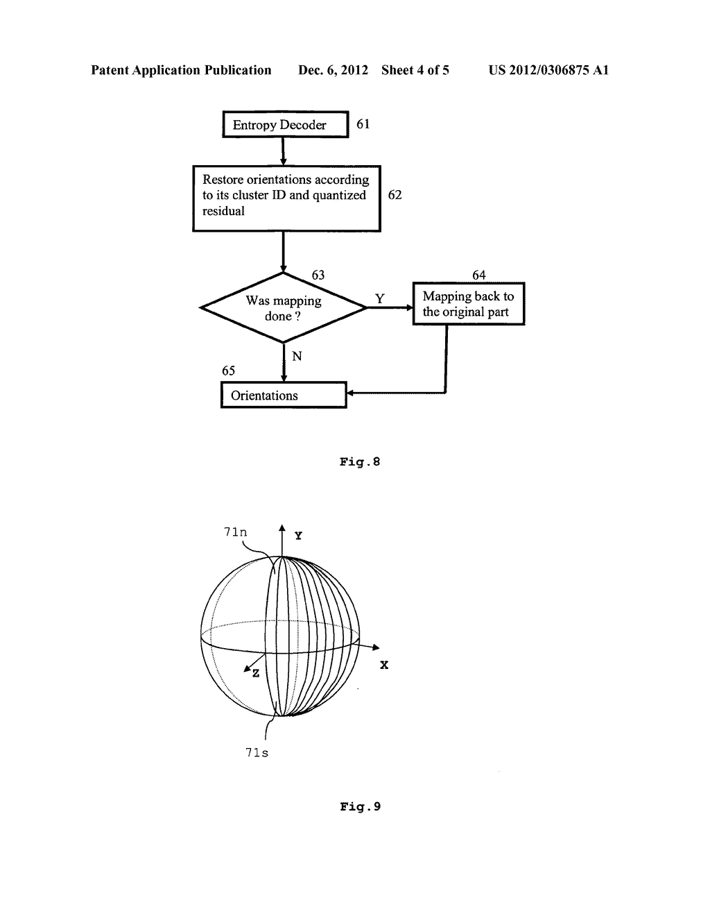 METHOD FOR ENCODING NORMALS OF A 3D MESH MODEL, METHOD FOR DECODING     NORMALS OF A 3D MESH MODEL, ENCODER AND DECODER - diagram, schematic, and image 05