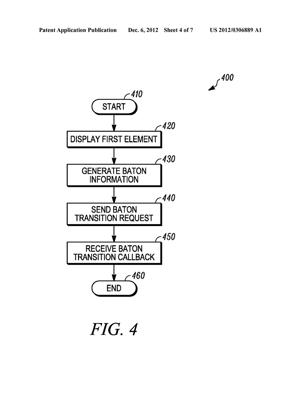 METHOD AND APPARATUS FOR OBJECT-BASED TRANSITION EFFECTS FOR A USER     INTERFACE - diagram, schematic, and image 05