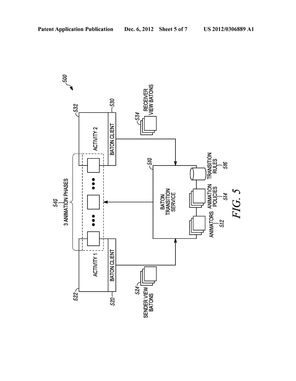 METHOD AND APPARATUS FOR OBJECT-BASED TRANSITION EFFECTS FOR A USER     INTERFACE - diagram, schematic, and image 06