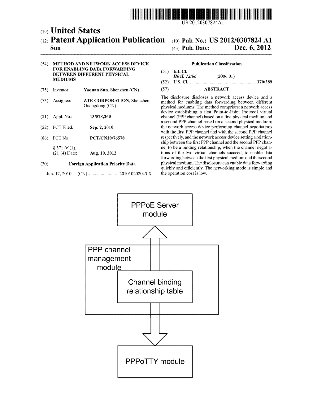 Method and network access device for enabling data forwarding between     different physical mediums - diagram, schematic, and image 01