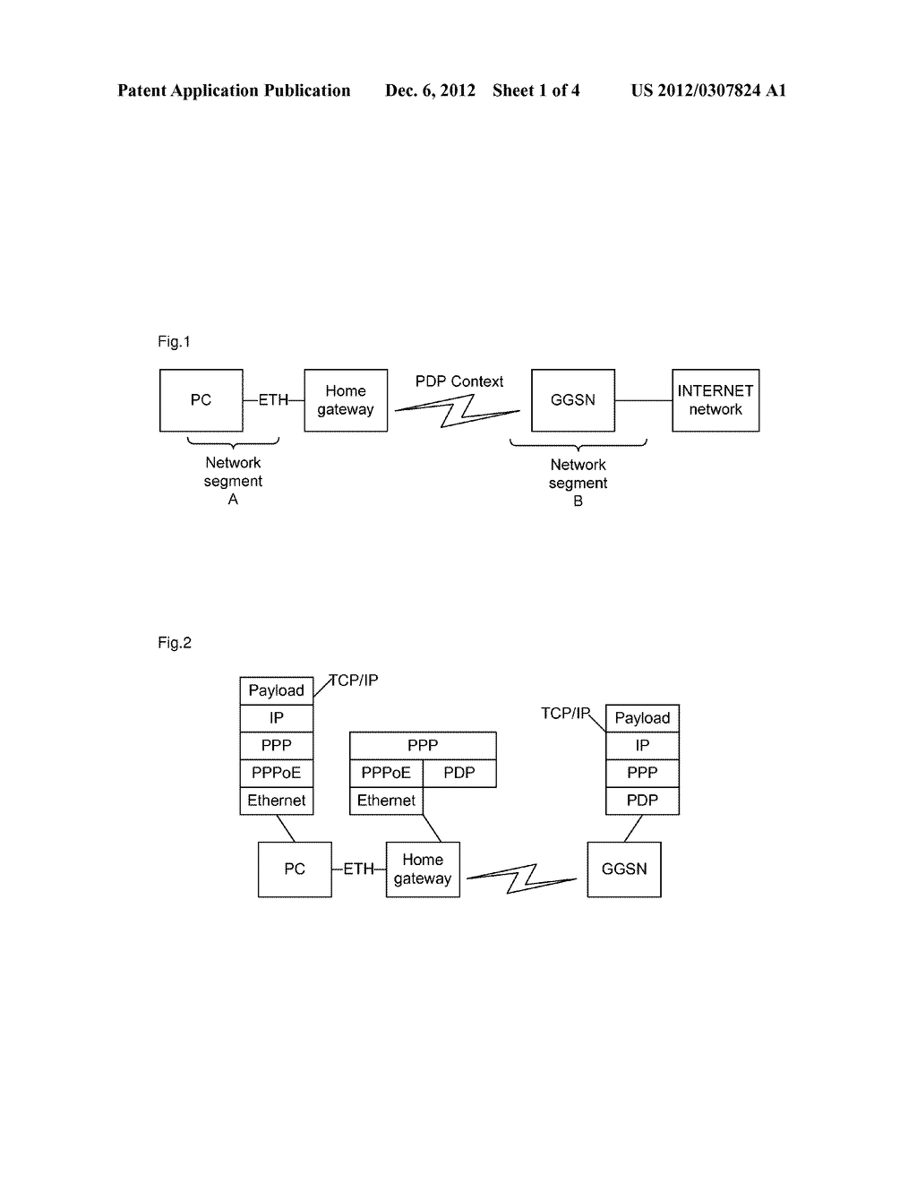 Method and network access device for enabling data forwarding between     different physical mediums - diagram, schematic, and image 02