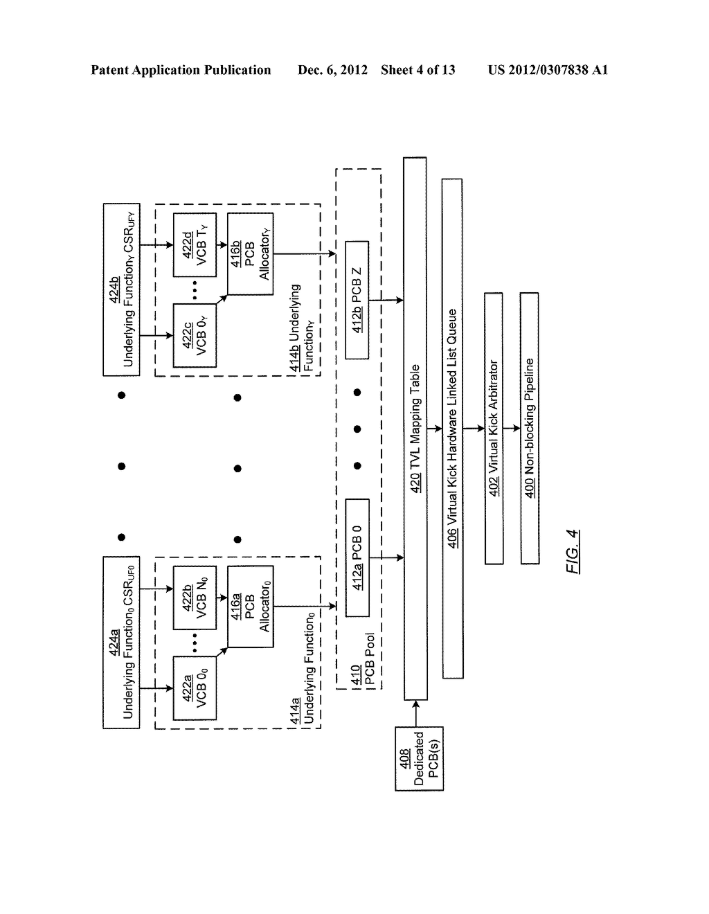 METHOD AND SYSTEM FOR TEMPORARY DATA UNIT STORAGE ON INFINIBAND HOST     CHANNEL ADAPTOR - diagram, schematic, and image 05