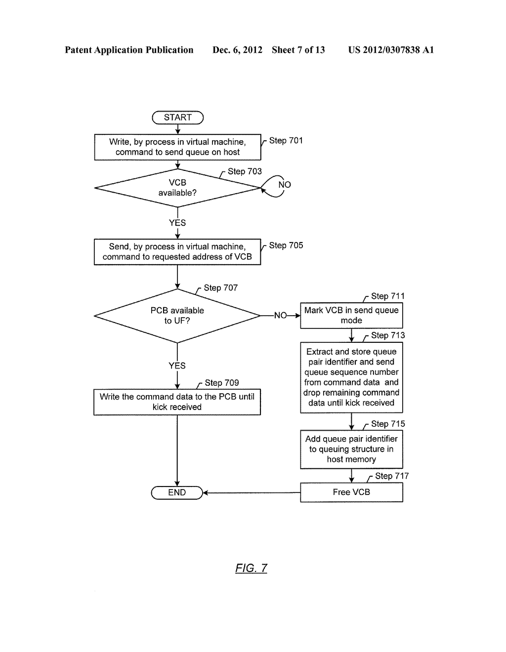 METHOD AND SYSTEM FOR TEMPORARY DATA UNIT STORAGE ON INFINIBAND HOST     CHANNEL ADAPTOR - diagram, schematic, and image 08