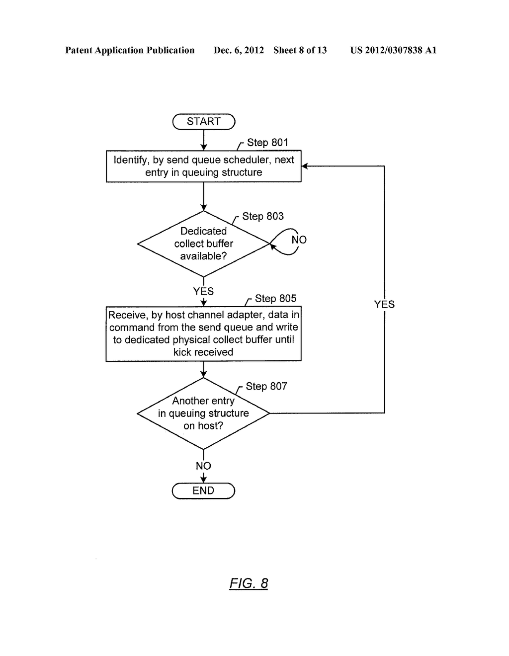 METHOD AND SYSTEM FOR TEMPORARY DATA UNIT STORAGE ON INFINIBAND HOST     CHANNEL ADAPTOR - diagram, schematic, and image 09