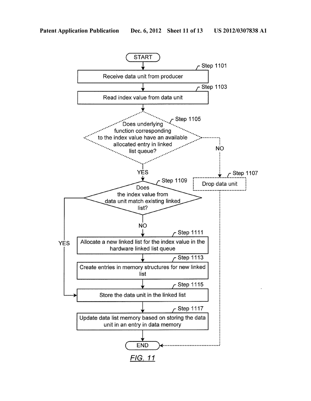 METHOD AND SYSTEM FOR TEMPORARY DATA UNIT STORAGE ON INFINIBAND HOST     CHANNEL ADAPTOR - diagram, schematic, and image 12