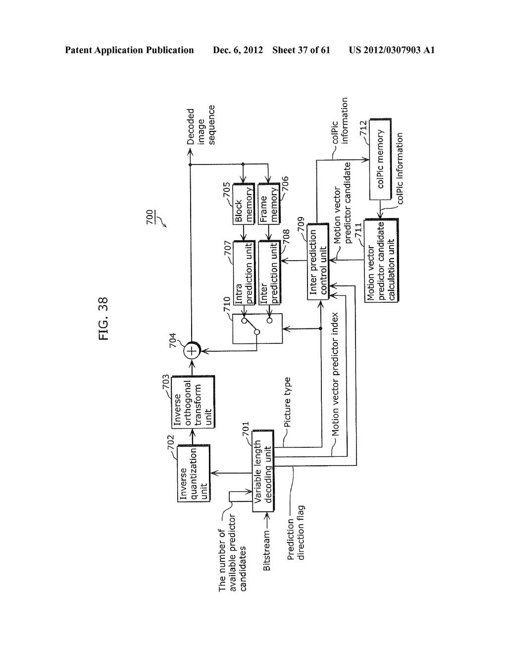 MOVING PICTURE CODING METHOD, MOVING PICTURE CODING APPARATUS, MOVING     PICTURE DECODING METHOD, MOVING PICTURE DECODING APPARATUS, AND MOVING     PICTURE CODING AND DECODING APPARATUS - diagram, schematic, and image 38