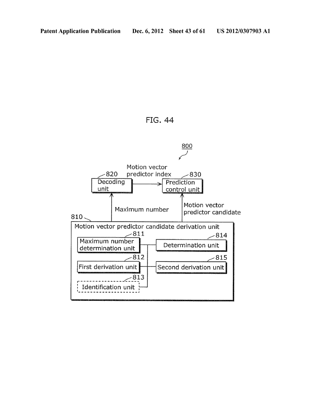 MOVING PICTURE CODING METHOD, MOVING PICTURE CODING APPARATUS, MOVING     PICTURE DECODING METHOD, MOVING PICTURE DECODING APPARATUS, AND MOVING     PICTURE CODING AND DECODING APPARATUS - diagram, schematic, and image 44