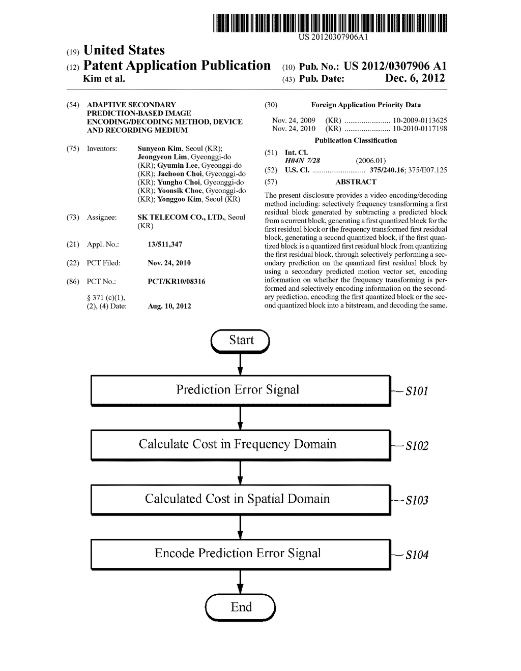 ADAPTIVE SECONDARY PREDICTION-BASED IMAGE ENCODING/DECODING METHOD, DEVICE     AND RECORDING MEDIUM - diagram, schematic, and image 01