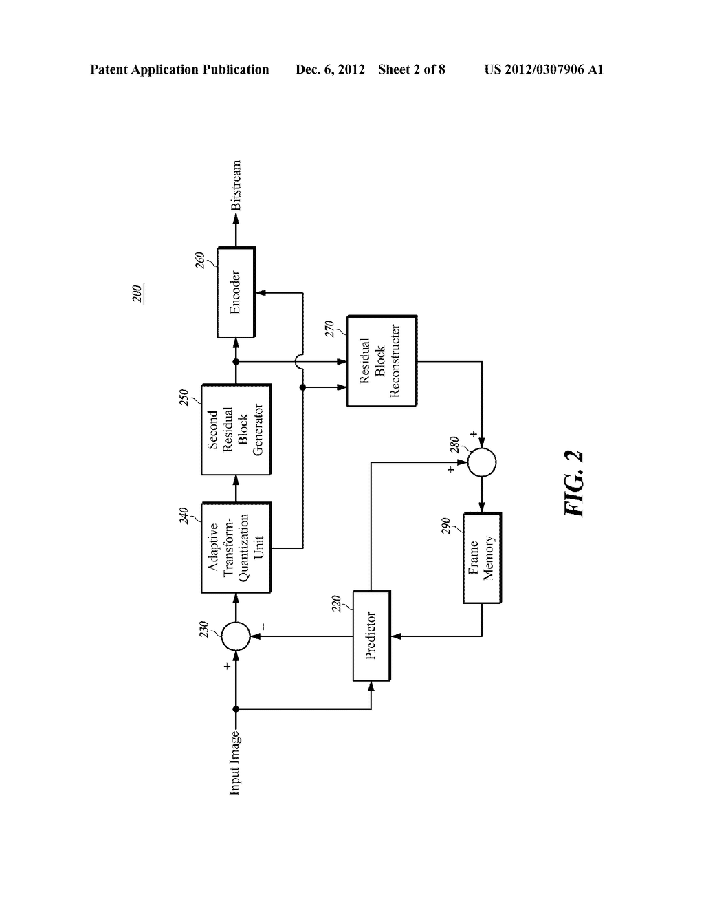 ADAPTIVE SECONDARY PREDICTION-BASED IMAGE ENCODING/DECODING METHOD, DEVICE     AND RECORDING MEDIUM - diagram, schematic, and image 03