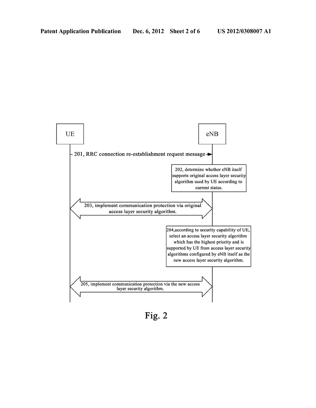 METHOD AND SYSTEM FOR SECURITY PROCESSING DURING RRC CONNECTION     RE-ESTABLISHMENT - diagram, schematic, and image 03