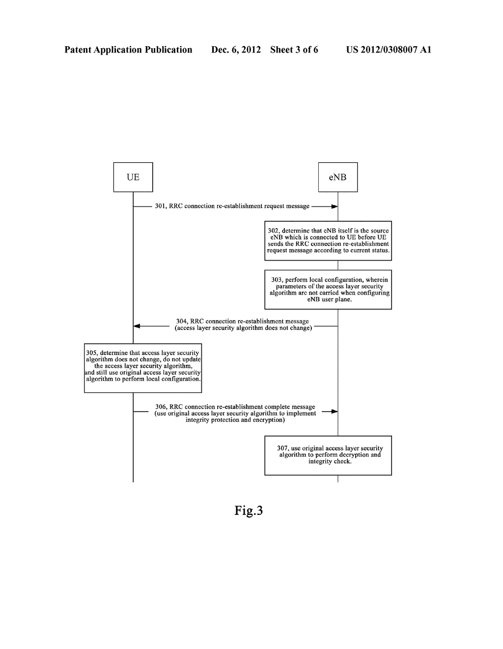 METHOD AND SYSTEM FOR SECURITY PROCESSING DURING RRC CONNECTION     RE-ESTABLISHMENT - diagram, schematic, and image 04