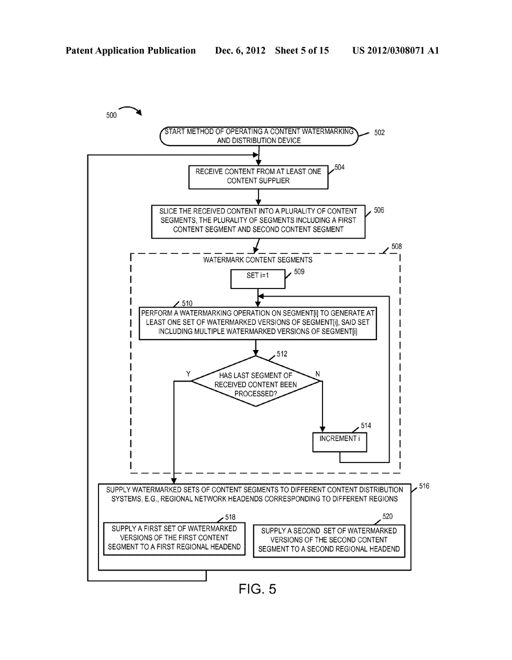 METHODS AND APPARATUS FOR WATERMARKING AND DISTRIBUTING WATERMARKED     CONTENT - diagram, schematic, and image 06