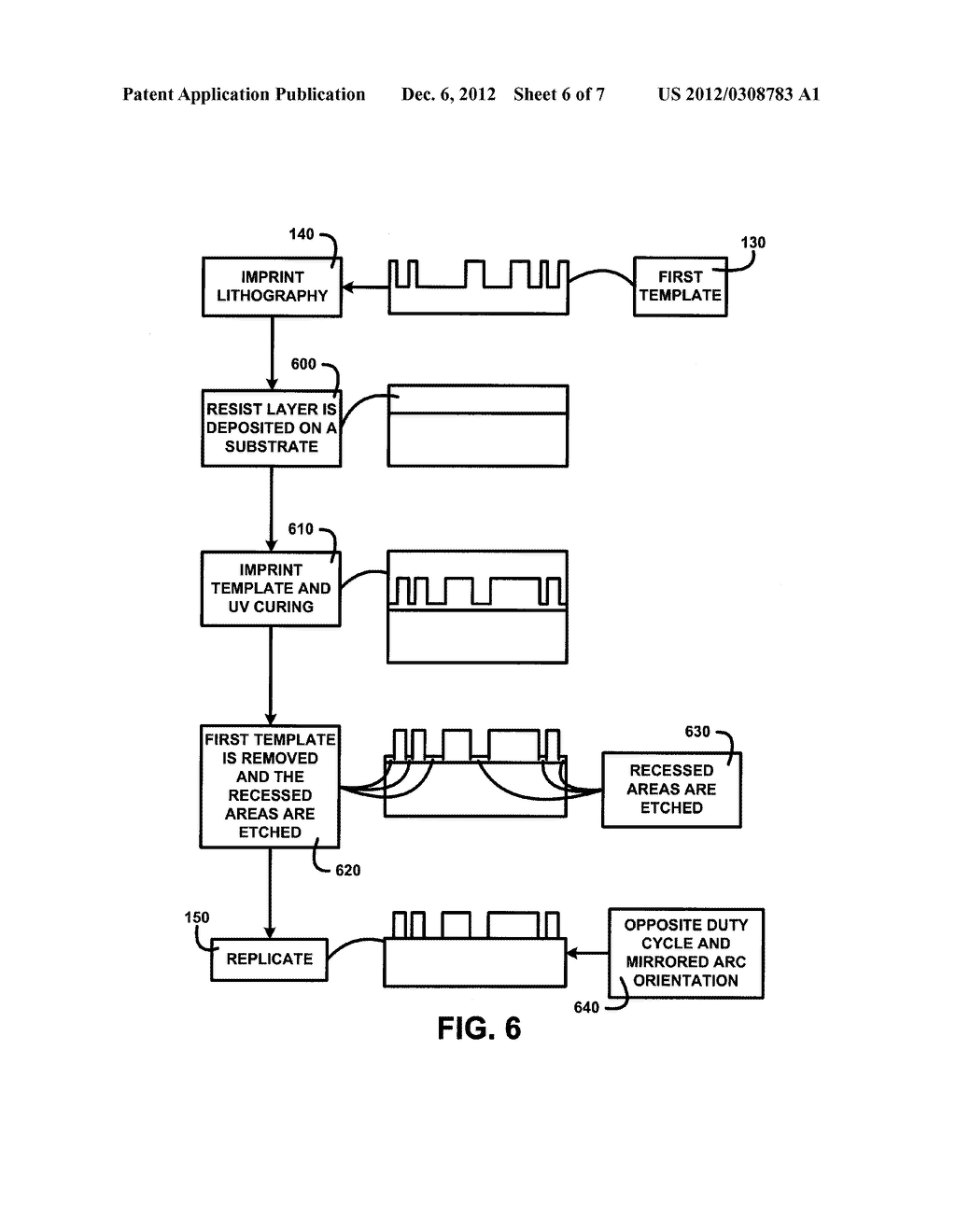 METHOD OF CREATING  TWO-SIDED TEMPLATE  FROM A SINGLE  RECORDED MASTER - diagram, schematic, and image 07