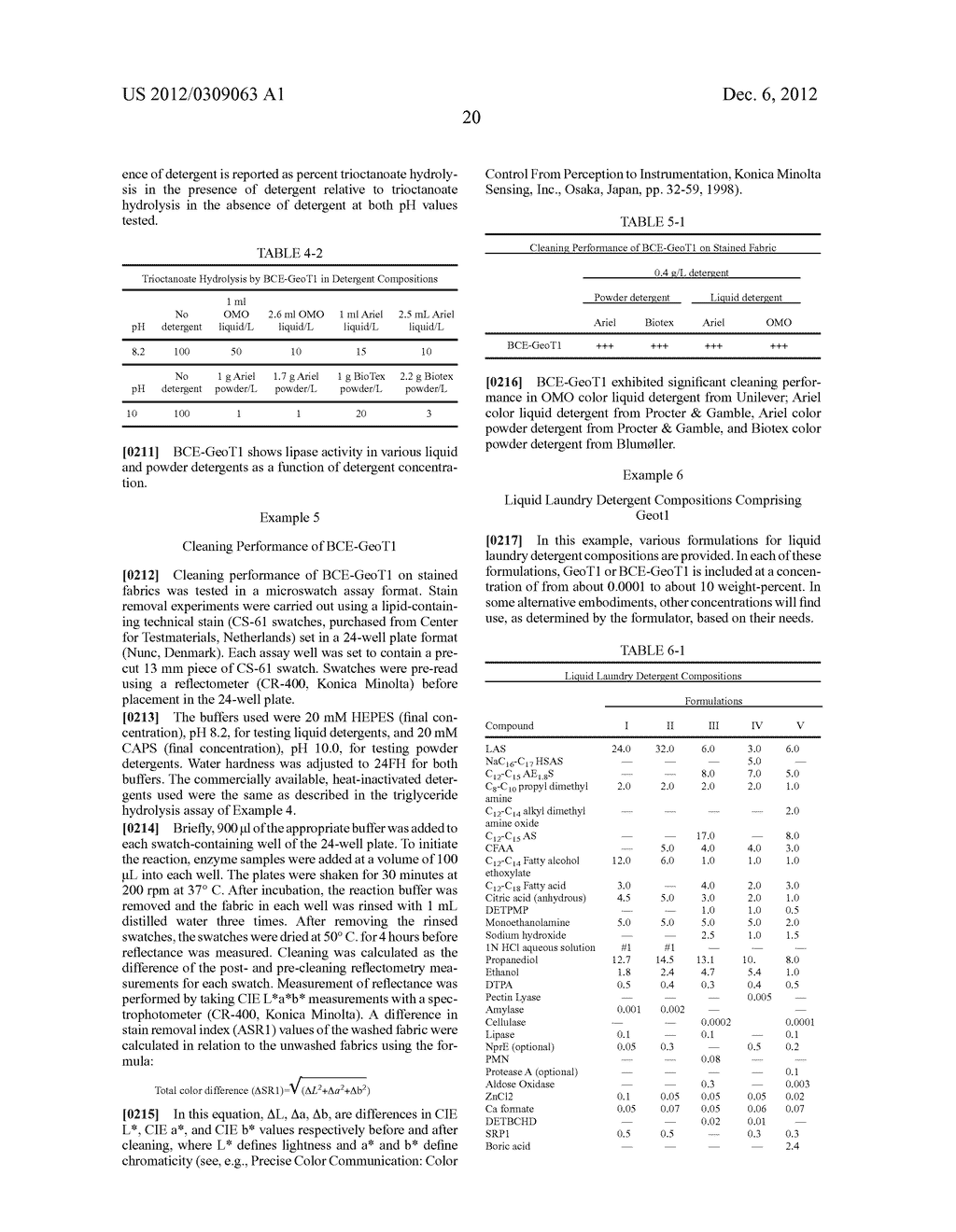 DETERGENT COMPOSITIONS CONTAINING GEOBACILLUS STEAROTHERMOPHILUS LIPASE     AND METHODS OF USE THEREOF - diagram, schematic, and image 21