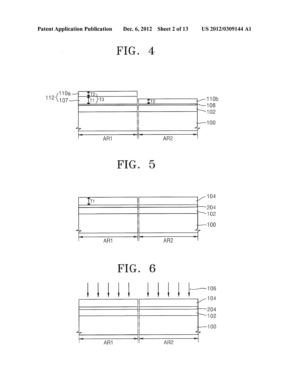 METHODS OF FORMING MOSFET DEVICES USING NITROGEN-INJECTED OXIDE LAYERS TO     FORM GATE INSULATING LAYERS HAVING DIFFERENT THICKNESSES - diagram, schematic, and image 03