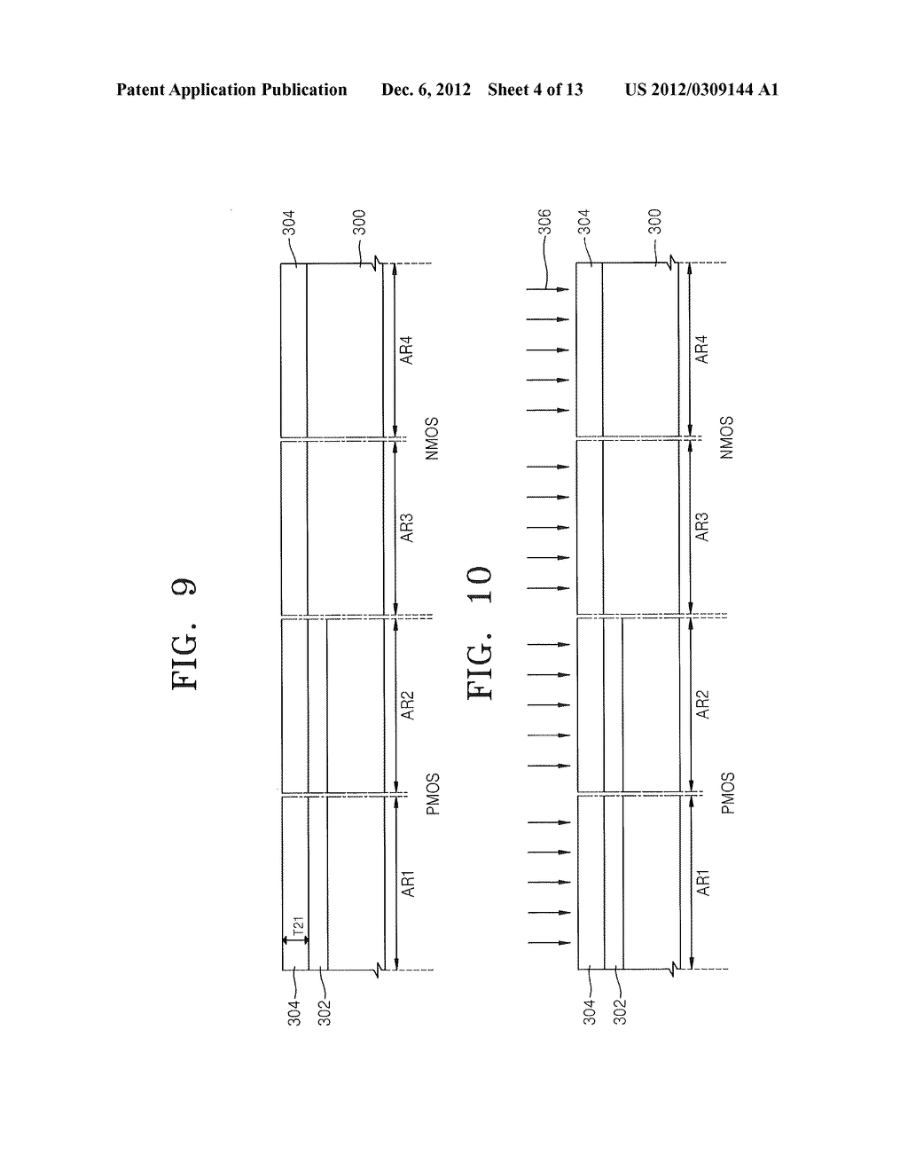 METHODS OF FORMING MOSFET DEVICES USING NITROGEN-INJECTED OXIDE LAYERS TO     FORM GATE INSULATING LAYERS HAVING DIFFERENT THICKNESSES - diagram, schematic, and image 05