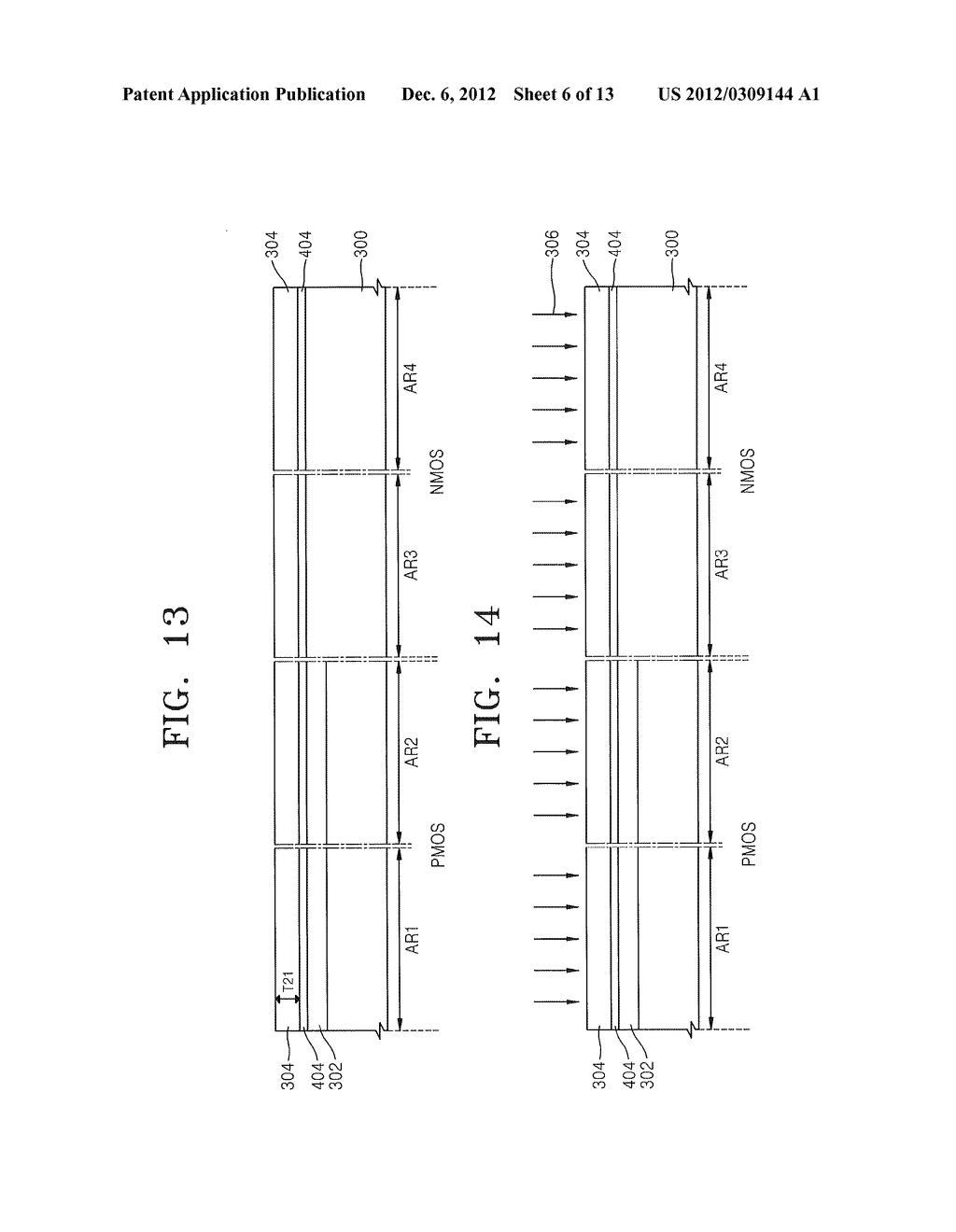 METHODS OF FORMING MOSFET DEVICES USING NITROGEN-INJECTED OXIDE LAYERS TO     FORM GATE INSULATING LAYERS HAVING DIFFERENT THICKNESSES - diagram, schematic, and image 07