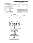 Collectable helmet with interactive features diagram and image