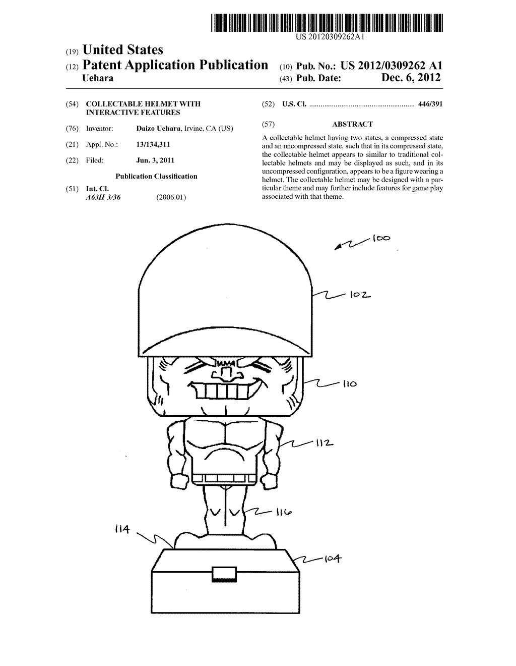 Collectable helmet with interactive features - diagram, schematic, and image 01