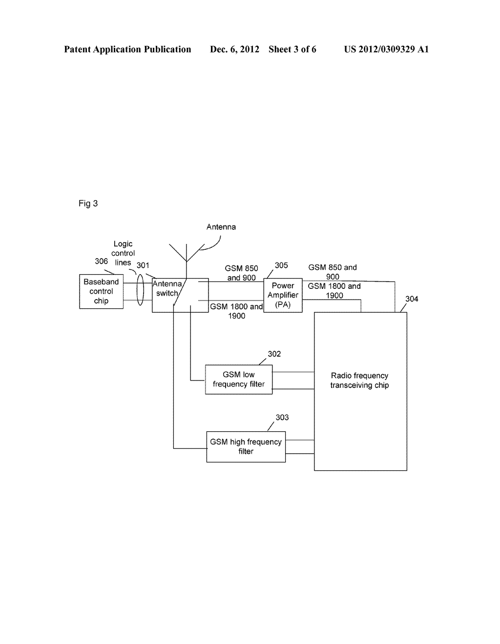 Device and equipment for four-frequency transceiving of global system for     mobile communication - diagram, schematic, and image 04