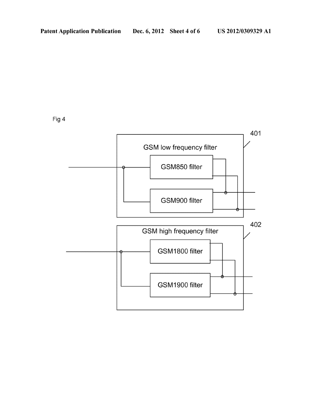 Device and equipment for four-frequency transceiving of global system for     mobile communication - diagram, schematic, and image 05