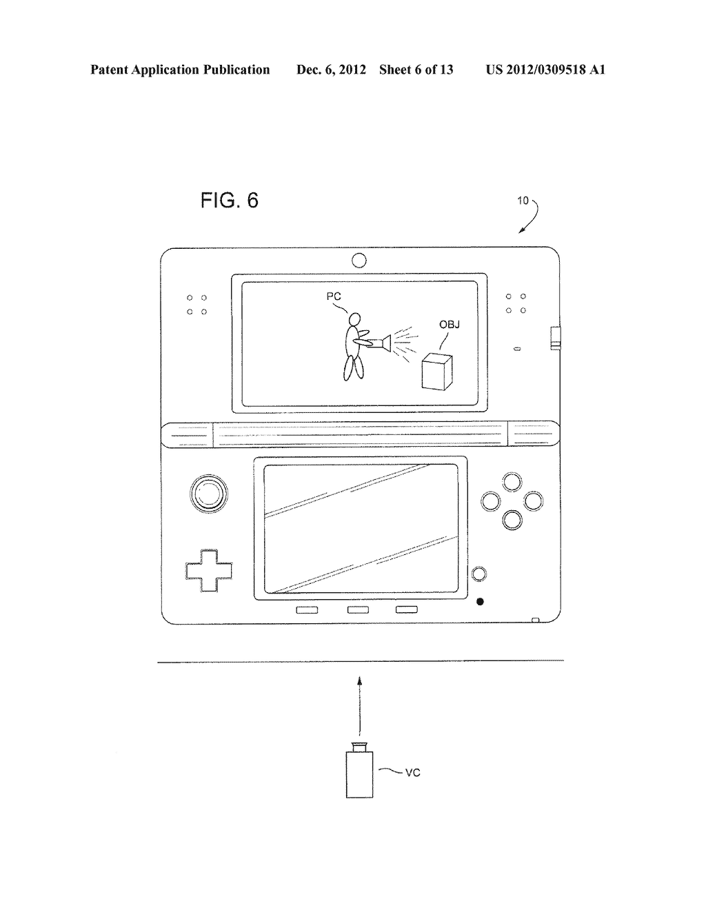 APPARATUS AND METHOD FOR GYRO-CONTROLLED GAMING VIEWPOINT WITH     AUTO-CENTERING - diagram, schematic, and image 07
