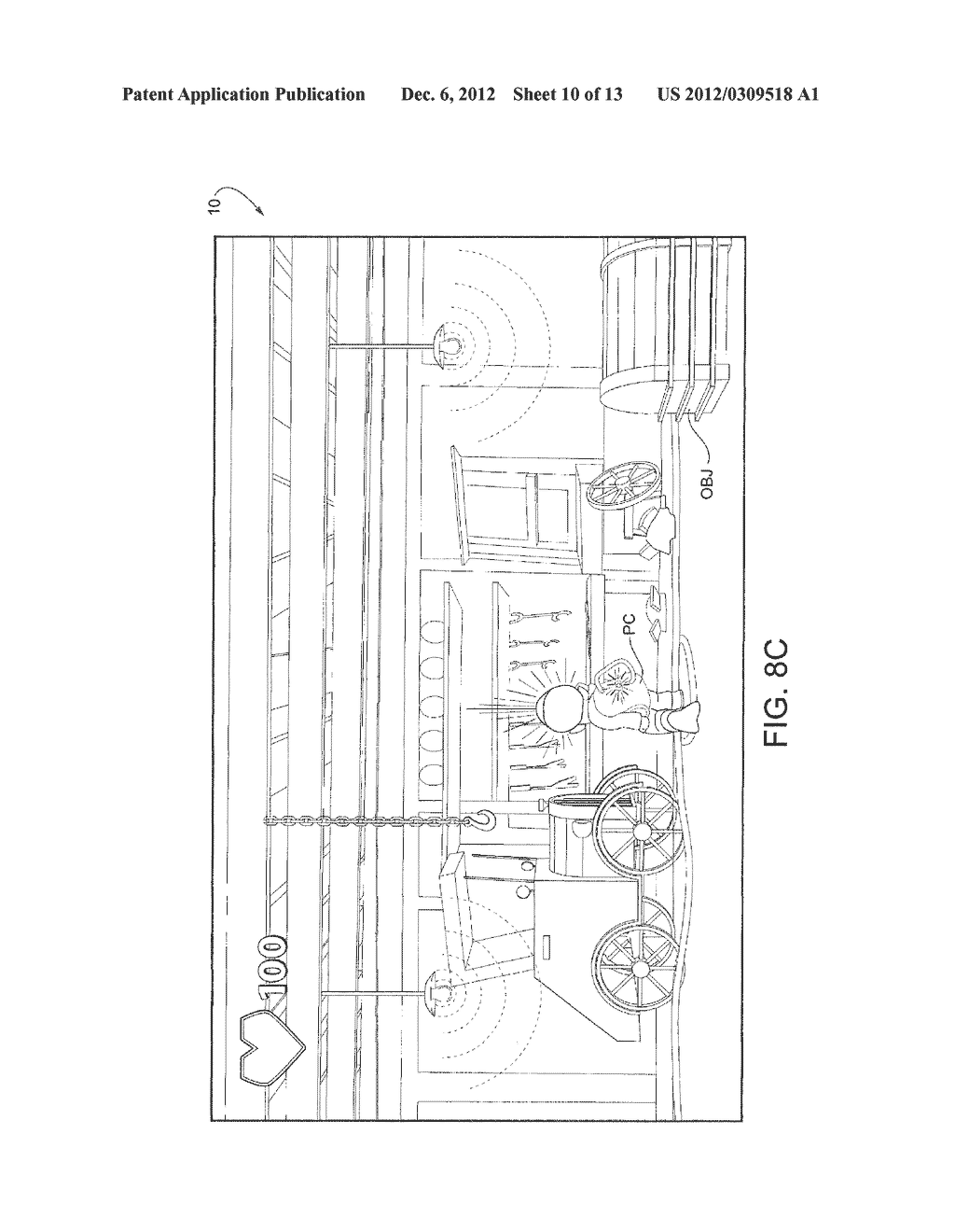 APPARATUS AND METHOD FOR GYRO-CONTROLLED GAMING VIEWPOINT WITH     AUTO-CENTERING - diagram, schematic, and image 11