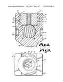 Anti-splay medical implant closure with multi-surface removal aperture diagram and image