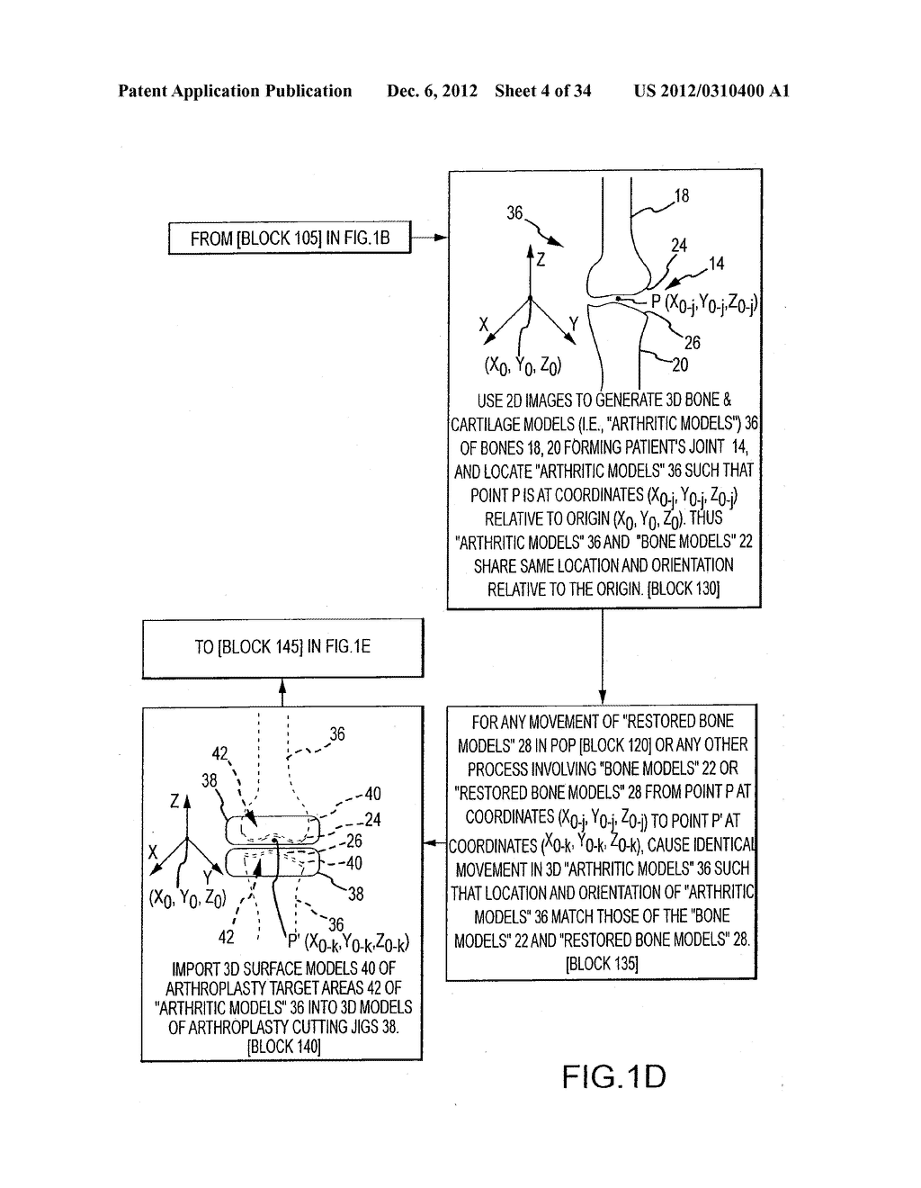 SYSTEM AND METHOD FOR MANUFACTURING ARTHROPLASTY JIGS - diagram, schematic, and image 05