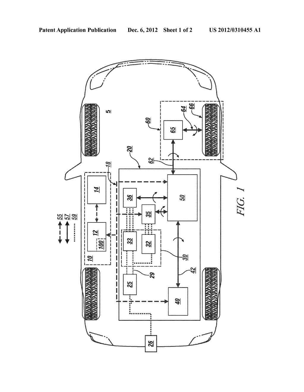METHOD AND APPARATUS FOR CONTROLLING TORQUE OUTPUT OF A HYBRID POWERTRAIN     SYSTEM - diagram, schematic, and image 02