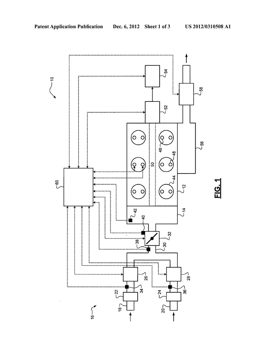 SYSTEM AND METHOD FOR DETECTING FAILURES OF MASS AIRFLOW SENSORS IN A     PARALLEL INTAKE ENGINE - diagram, schematic, and image 02