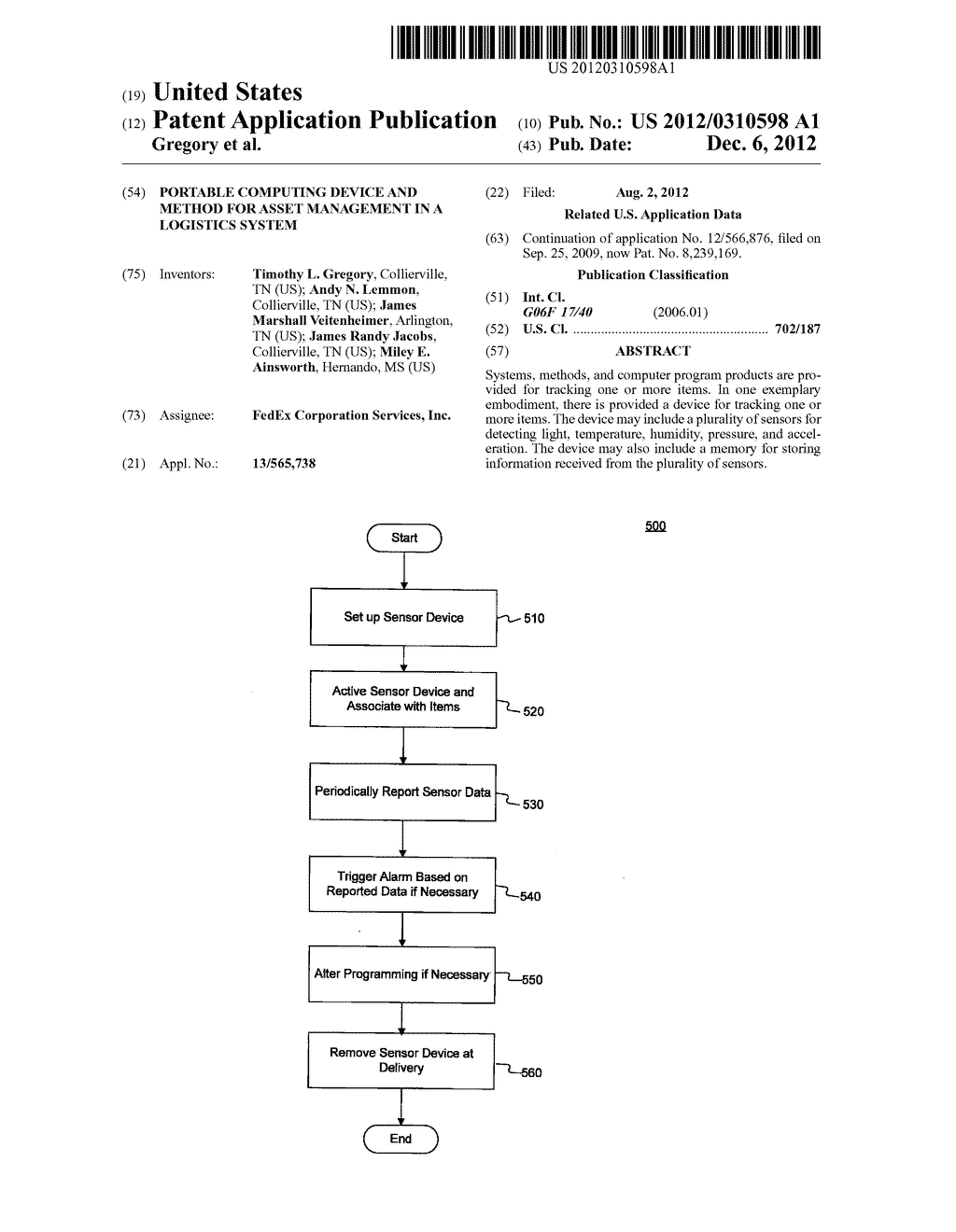 PORTABLE COMPUTING DEVICE AND METHOD FOR ASSET MANAGEMENT IN A LOGISTICS     SYSTEM - diagram, schematic, and image 01