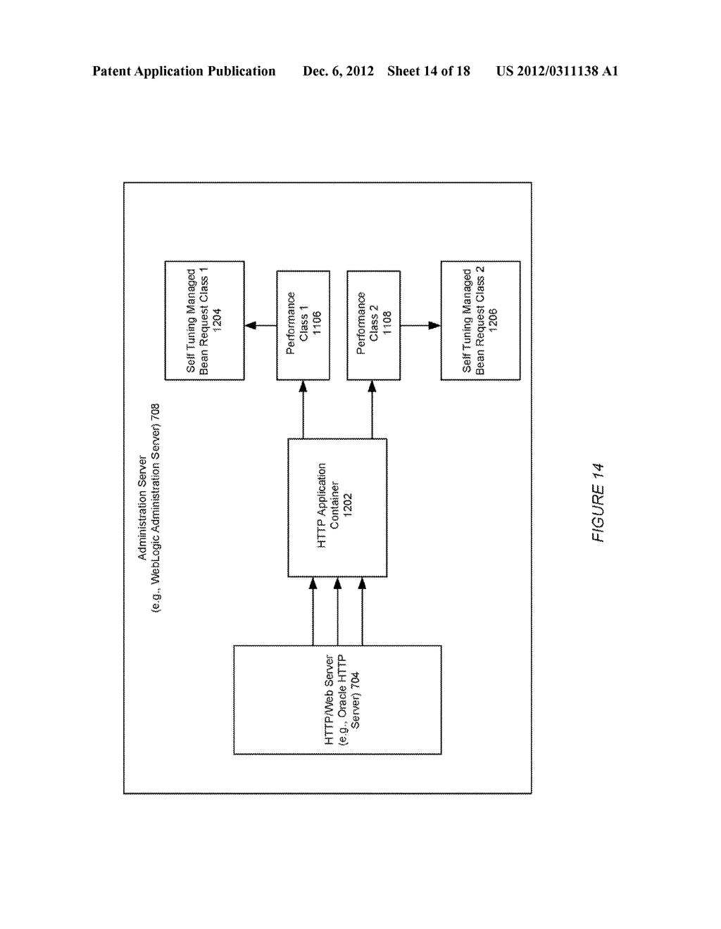SYSTEM AND METHOD FOR USING QUALITY OF SERVICE WITH WORKLOAD MANAGEMENT IN     AN APPLICATION SERVER ENVIRONMENT - diagram, schematic, and image 15