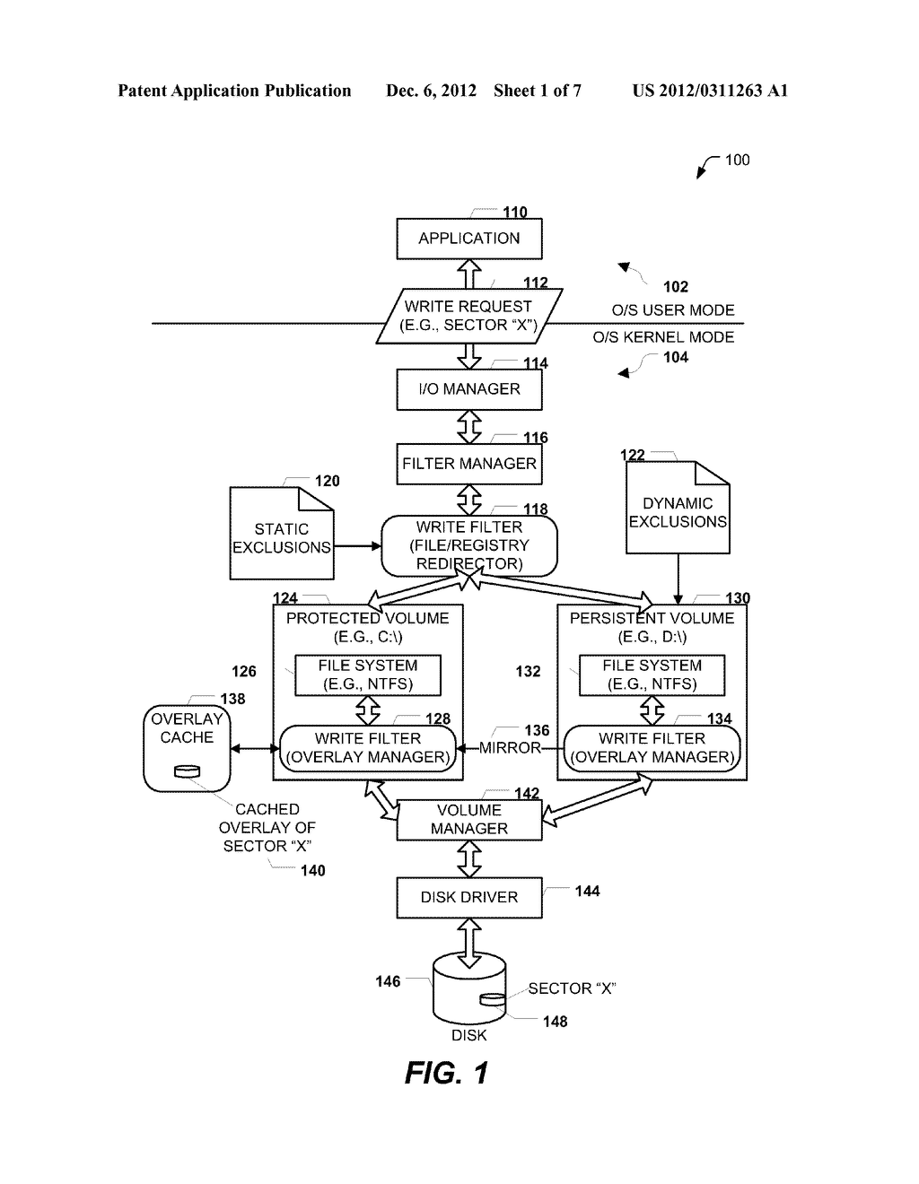 SECTOR-BASED WRITE FILTERING WITH SELECTIVE FILE AND REGISTRY EXCLUSIONS - diagram, schematic, and image 02
