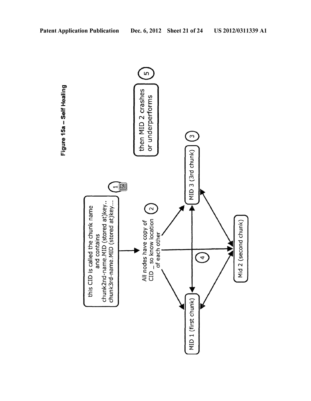 METHOD FOR STORING DATA ON A PEER-TO-PEER NETWORK - diagram, schematic, and image 22