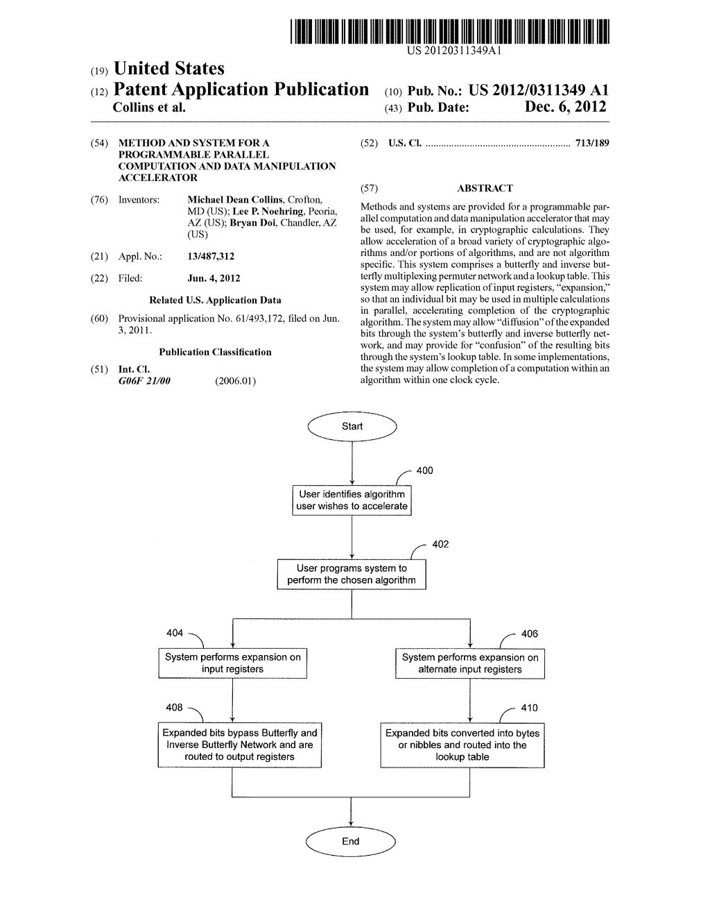 Method and System for a Programmable Parallel Computation and Data     Manipulation Accelerator - diagram, schematic, and image 01