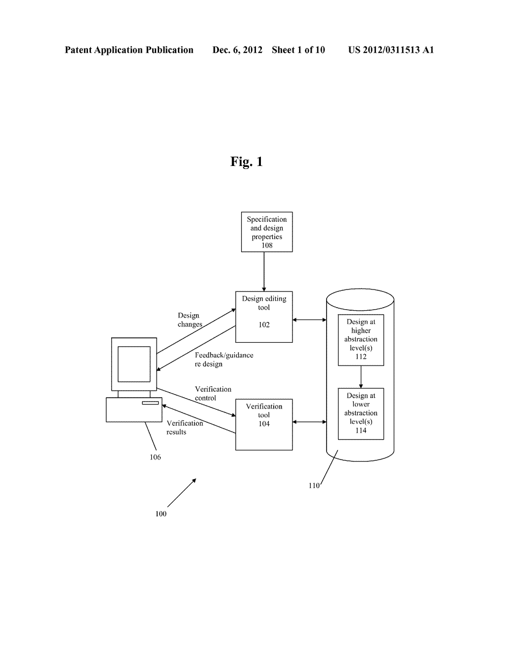 METHOD AND SYSTEM FOR IMPLEMENTING TOP DOWN DESIGN AND VERIFICATION OF AN     ELECTRONIC DESIGN - diagram, schematic, and image 02